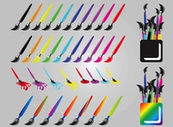 Link toColorful paint brushes vector free