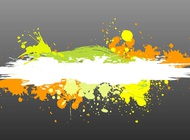 Link toColorful paint splatter vector free