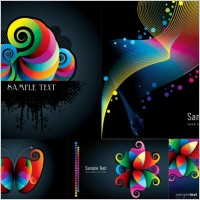 Link toColorful patterns and lines vector