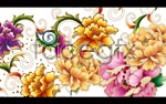 Link toColorful peony flower psd