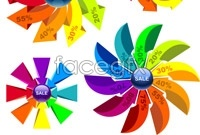 Link toColorful pinwheel discount price tag vector