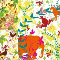 Link toColorful plants and animals silhouette vector