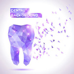 Link toColorful poly teeth vector