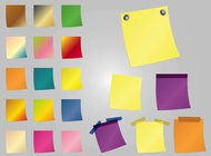 Link toColorful post-it notes vector free