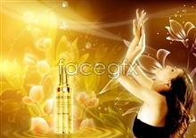 Link toColorful poster woman skin care cosmetics psd