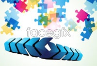 Link toColorful puzzle background vector ii