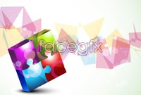 Link toColorful puzzle background vector iv