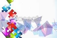Link toColorful puzzle background vector