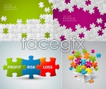 Link toColorful puzzle footage vector