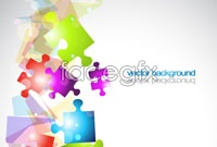 Link toColorful puzzle vector background for three