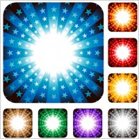Link toColorful radiation pattern vector