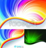 Link toColorful rainbow background vector