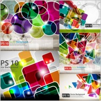 Link toColorful rectangles background vector