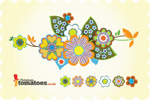 Link toColorful retro flowers vector
