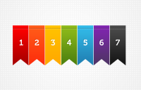 Link toColorful ribbons psd