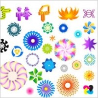 Link toColorful rotating pattern vector
