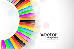 Link toColorful round semi circular background vector