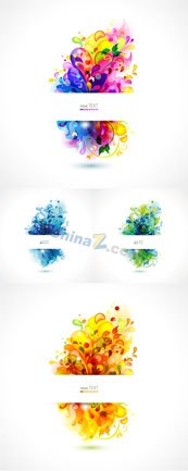 Link toColorful seasons pattern vector