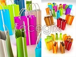Link toColorful shopping bags psd