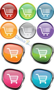 Link toColorful shopping cart icon vector
