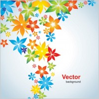 Link toColorful small flowers vector background
