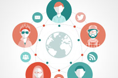 Colorful social life icon vector
