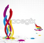 Colorful solid arrows vector