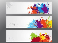 Link toColorful splatter banners vector free
