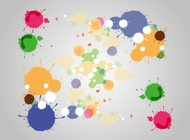 Link toColorful splatters vector free
