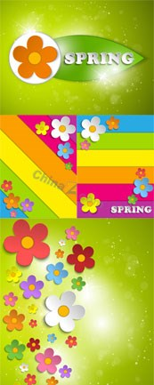 Link toColorful spring free vector template
