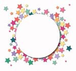 Link toColorful stars background stickers vector