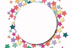Link toColorful stars sticker vector background
