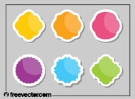 Link toColorful stickers set vector free