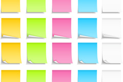 Link toColorful sticky notes design vector