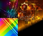 Link toColorful streamers of the line background vector