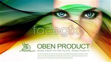 Link toColorful streamers woman fantasy psd