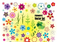 Link toColorful summer flowers vector free