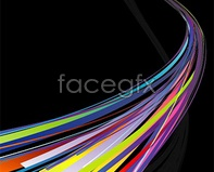 Link tolight of lines colorful vector format eps vector of line symphony Colorful