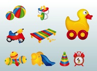 Link toColorful toys vector free