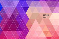 Colorful triangular geometric background vector