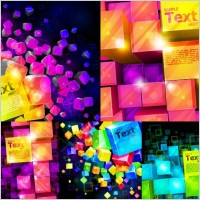 Link toColorful vector background cube