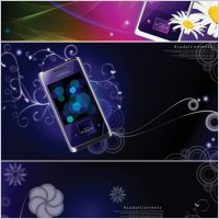Link toColorful vector background dream phone patterns