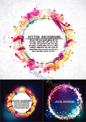 Colorful vector background maps the ring design