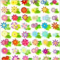 Link toColorful vector flowers