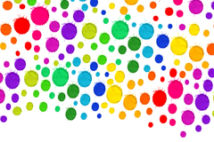 Link toColorful watercolor dots background vector