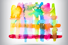Link toColorful watercolor traces vector background