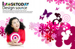 Link toColorful women's clothes advertising psd