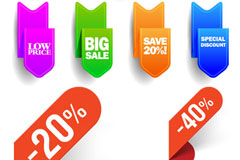 Link toColour discount tag tag vector