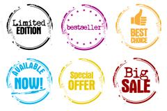 Link toColour sale postmark vector
