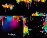 Coloured ink vector